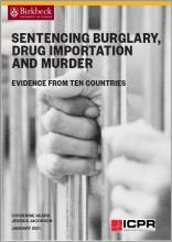Sentencing burglary, drug importation and murder cover